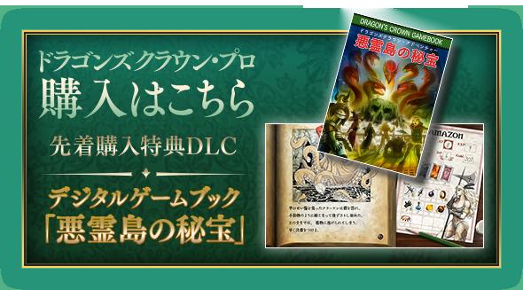 ドラゴンズクラウン・プロ 購入はこちら 先着購入特典DLC デジタルゲームブック「悪霊島の秘宝」