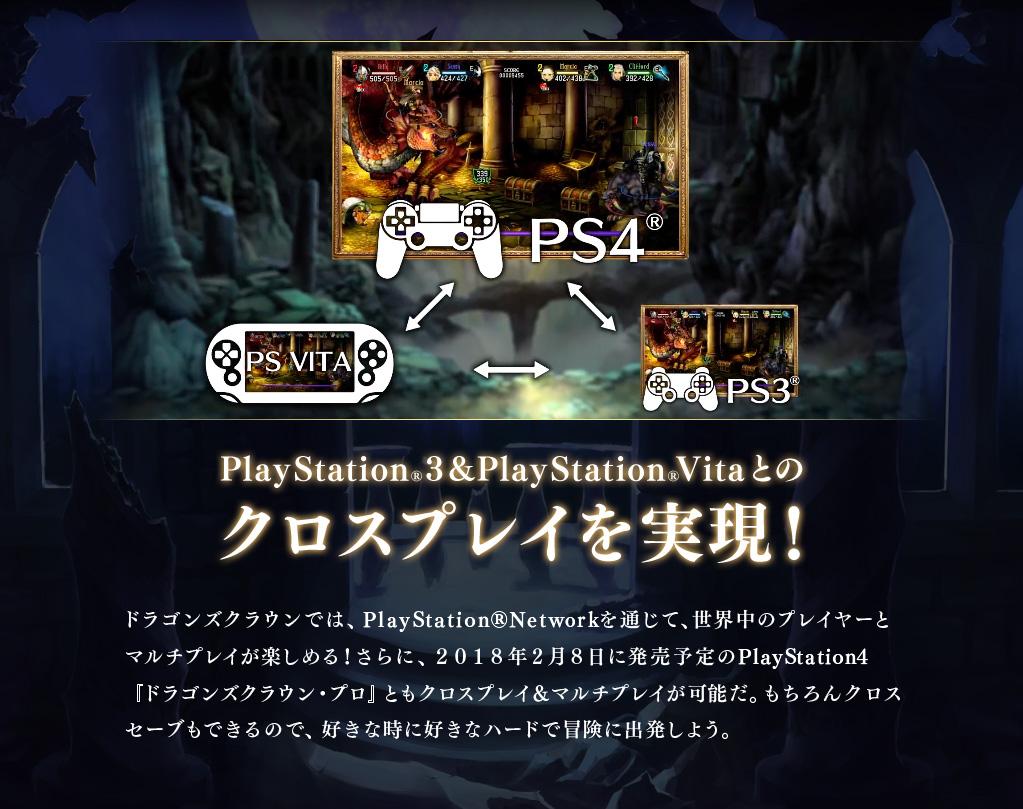 PlayStation3&PlayStationVitaとのクロスプレイを実現!